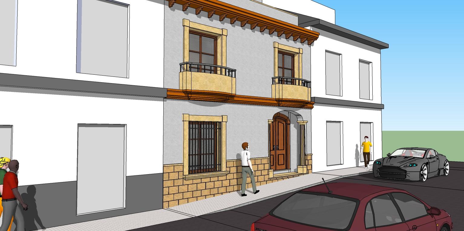 Arquisurlauro vivienda dise o de alzado definitivo para - Diseno vivienda unifamiliar ...