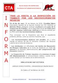 TRAS LA VISITA A LA INSPECCIÓN DE TRABAJO POR LOS RECONOCIMIENTOS MÉDICOS