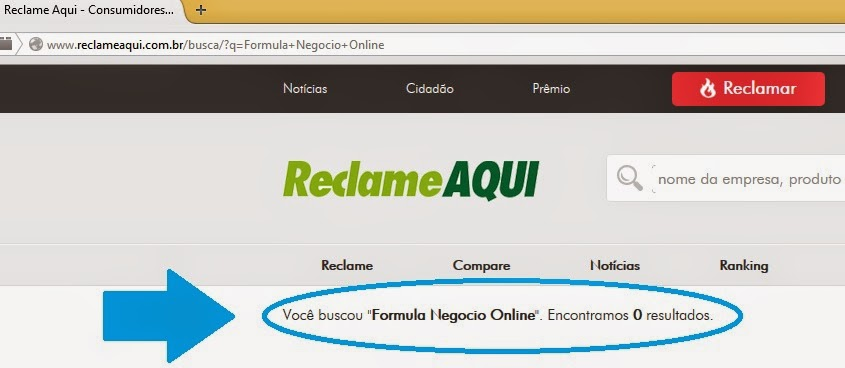Formula Negocio Online ReclameAqui