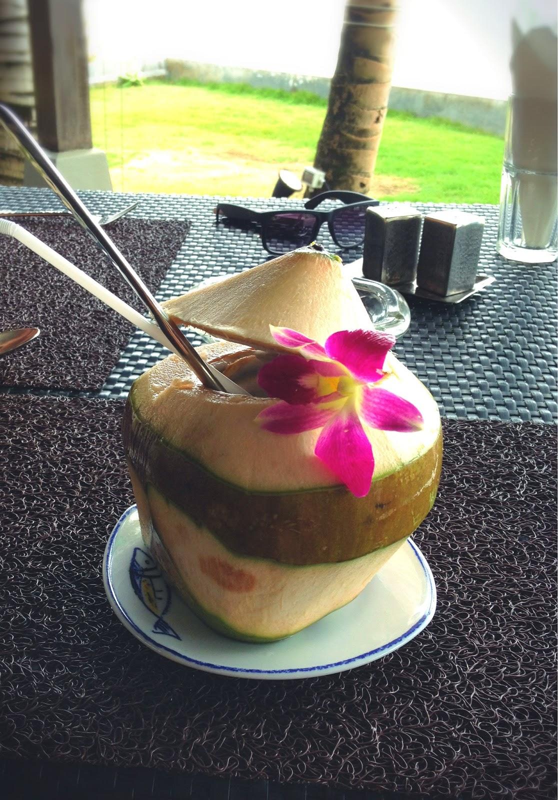 yiweilim, yi wei lim, yiwei lim, yi wei lim blogspot, khao lak, phuket, bang niang beach, bang niang, phangnga, chongfah resort, chongfah boutique hotel, chongfah khao lak, coconut, cocnut juice