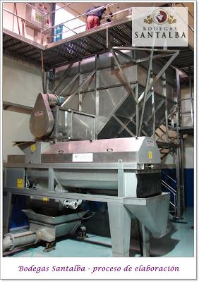 Proceso de elaboración Bodegas Santalba