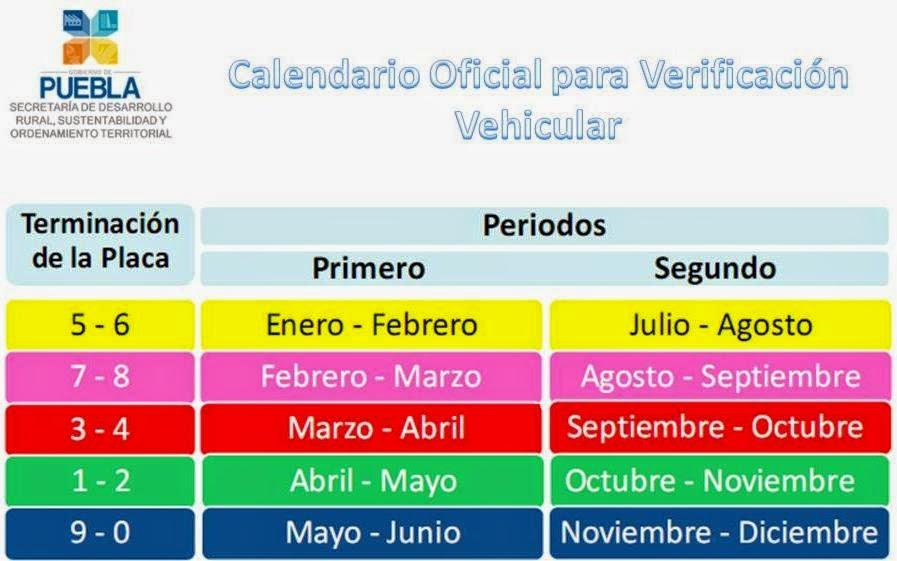 calendario de verificacion