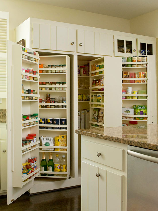 pantry storage this recessed pantry design provides a combination of