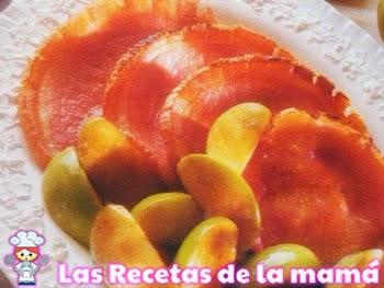 Receta de Jamón con salsa de manzana