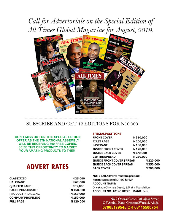 CALL FOR ADS ON ALL TIMES MAGAZINE 26TH EDITION