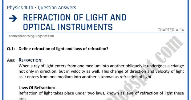 refraction essay