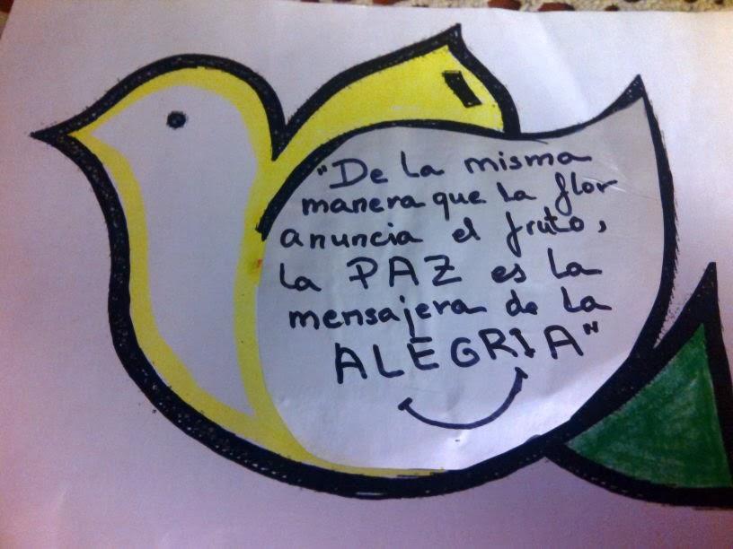 Invitamos a que las palomas con mensajes de PAZ...