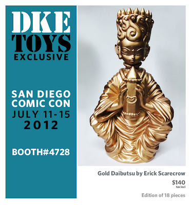 San Diego Comic-Con 2012 Exclusive Gold Daibutsu Resin Figure by ESC Toy & Erick Scarecrow