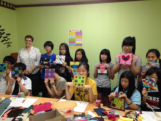 HanjiNaty Hanji Workshop with Korean students