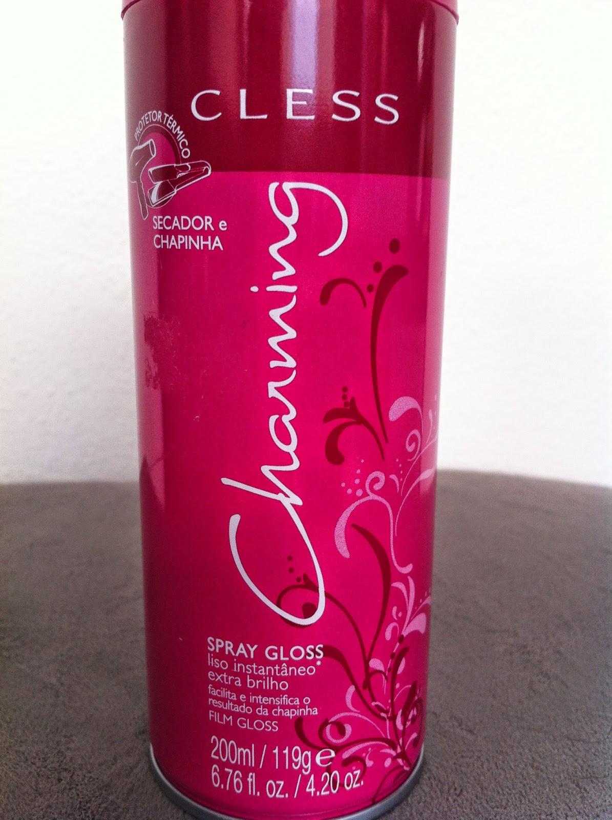 charming, spray, gloss, protetor termico, secador, chapinha, brilho, liso, extra brilho