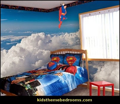 Decorating theme bedrooms maries manor superman bedroom decorating ideas superman decor - Superman room decorating ideas ...