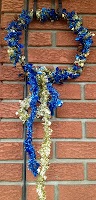 tinsel, wreath, jingle bells, pine cones, Christmas, craft, crafting with children
