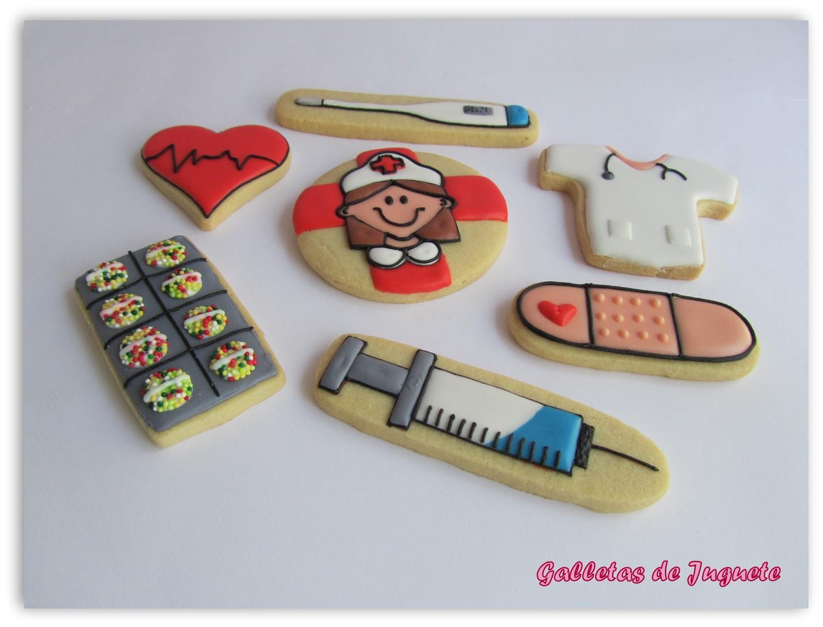 Galletas de juguete galletas enfermeras - Regalos para enfermeras ...