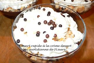 Vie quotidienne de Flaure: dessert rapide à la crème dessert