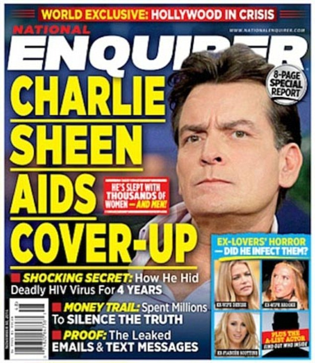 Charlie sheen HIV ANNOUNCEMENT