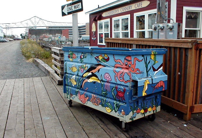 Diane Beeston's Painted Dumpster