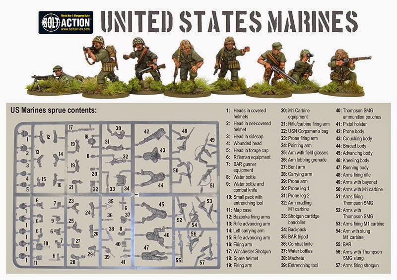 Warlord Games Plastic US Marine Corp Infantry Sprue