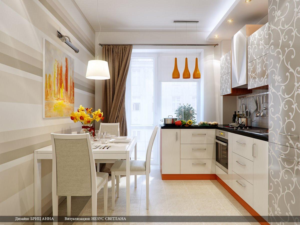 Дизайн интерьера кухни 9 кв м фото в типовой квартире