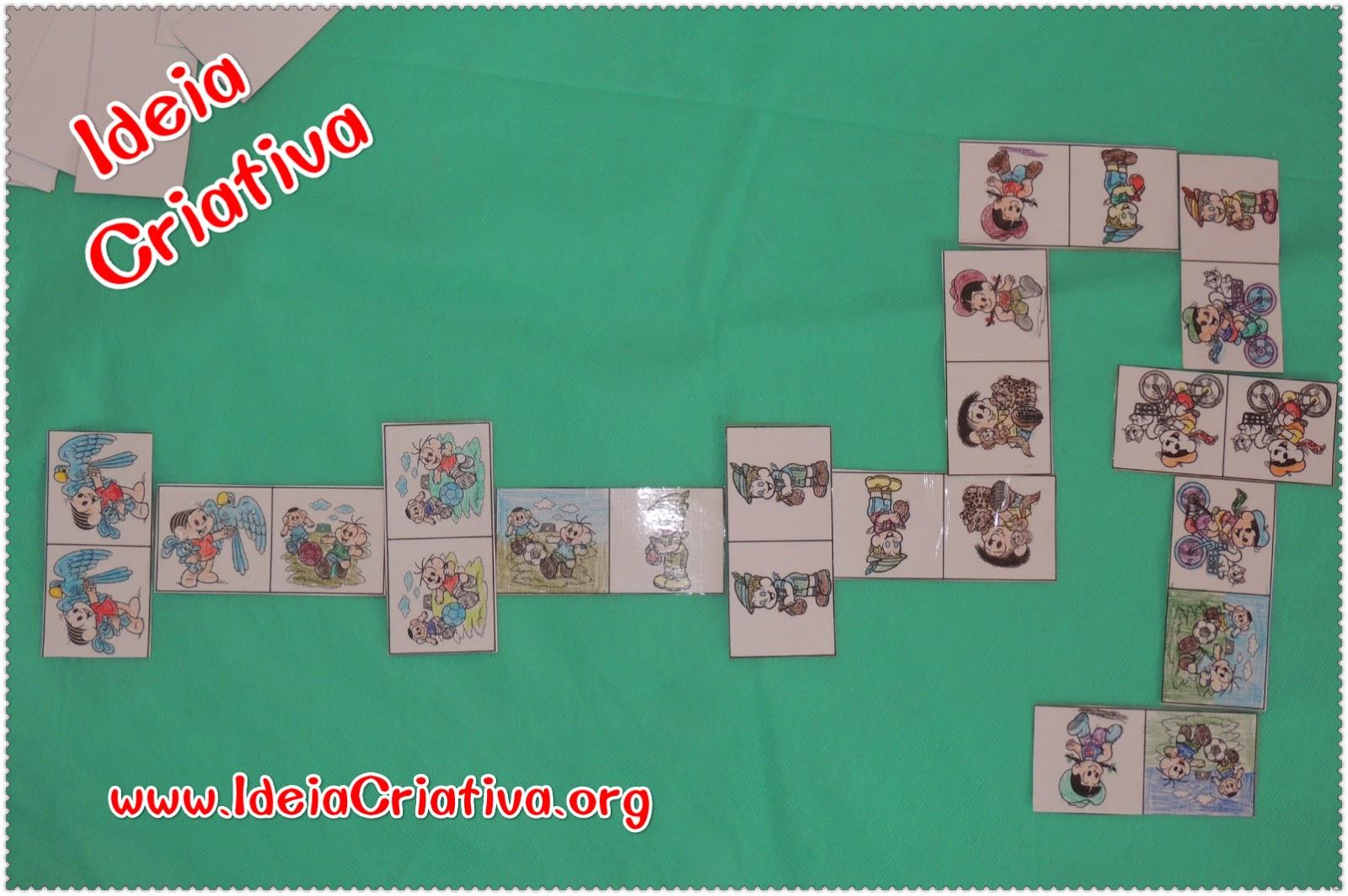 Jogo Domino com Figuras dos personagens Turma da Mônica