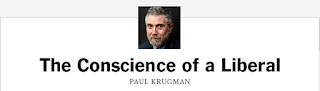 Cabecera del Blog de Paul Krugman, The Conscience of a Liberal