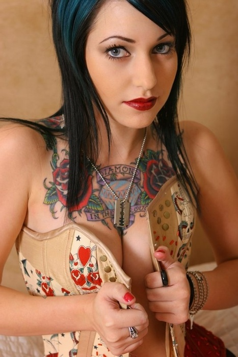 Female Chest Tattoos