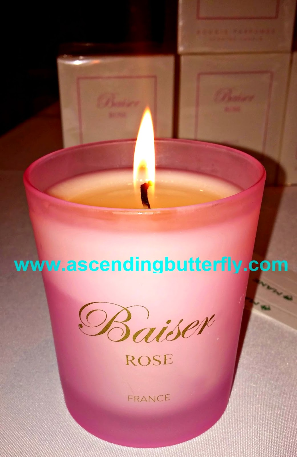 Baiser ROSE, Scented Candles