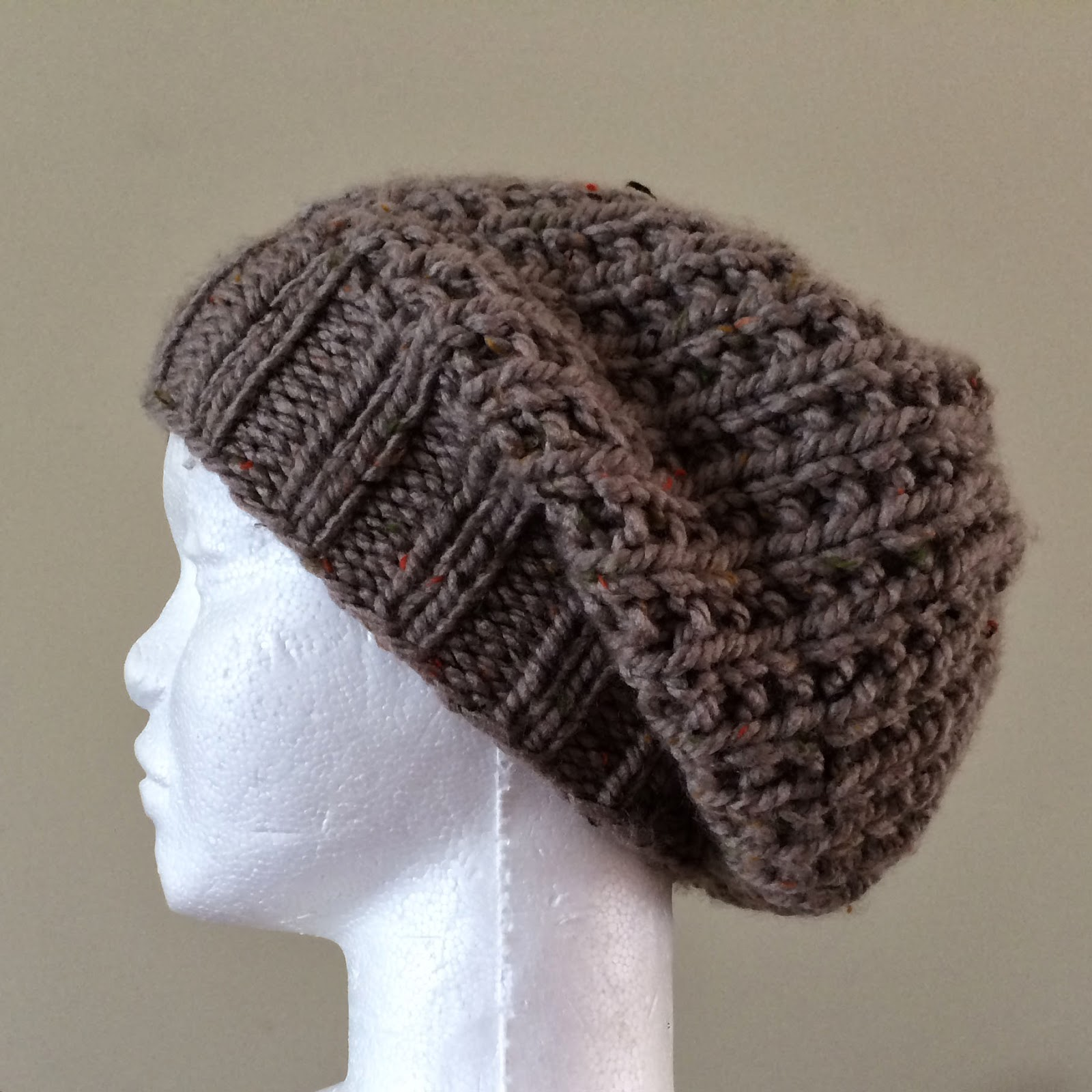 Ruby Knits: Free Pattern Friday - Ribby Slouch Hat