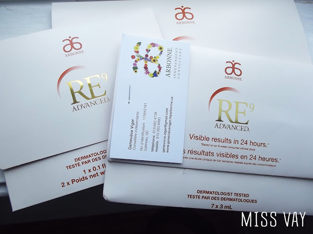 re9 advanced arbonne vieillissement peau soin québec anti âge