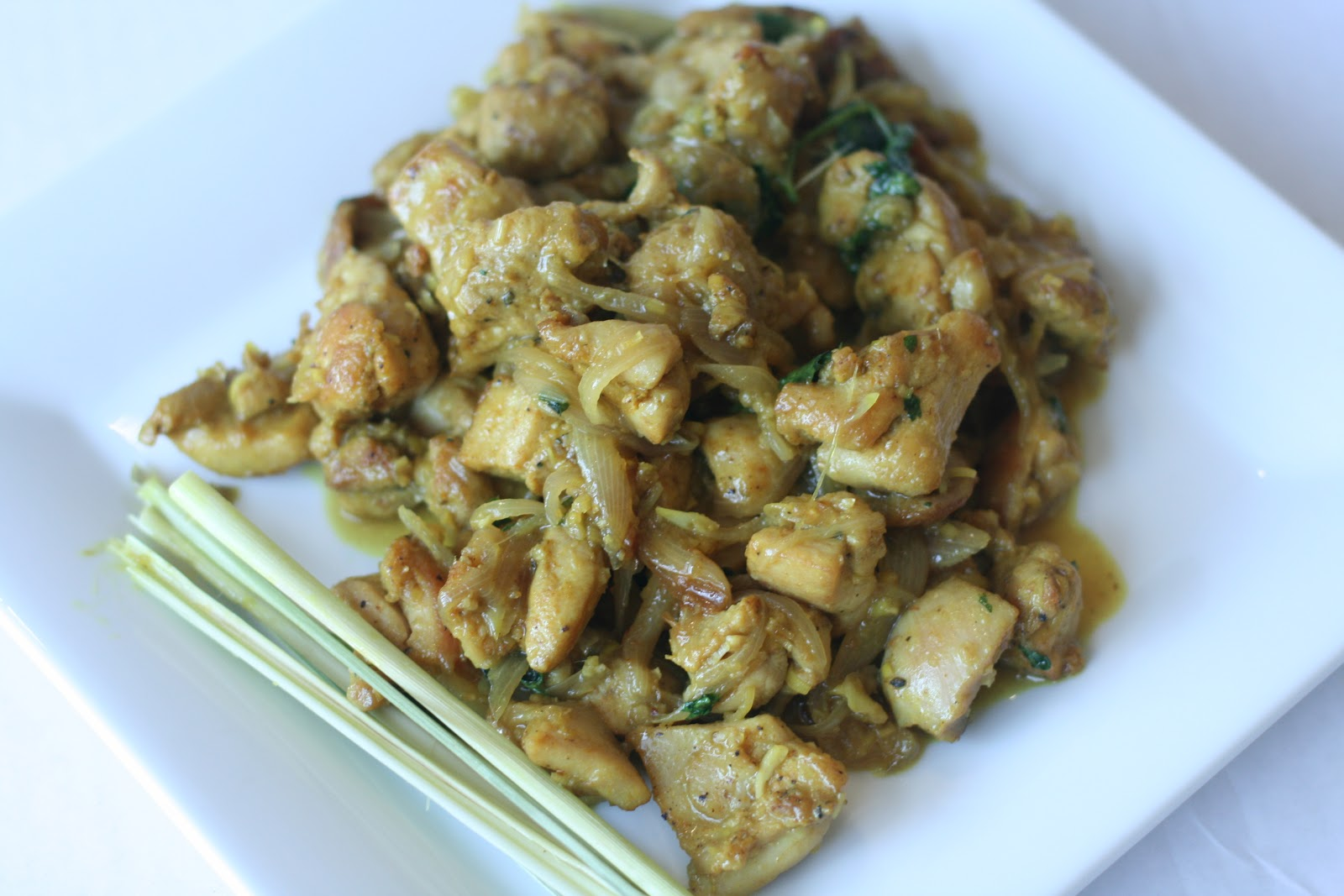 Chicken Stir-Fried With Lemongrass And Chile Recipe — Dishmaps