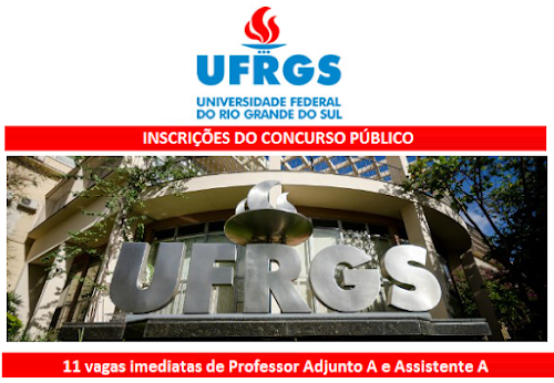 Concurso UFRGS para Professor - edital 15/2016