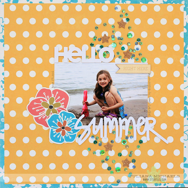 Hello Summer Scrapbook Page by Juliana Michaels