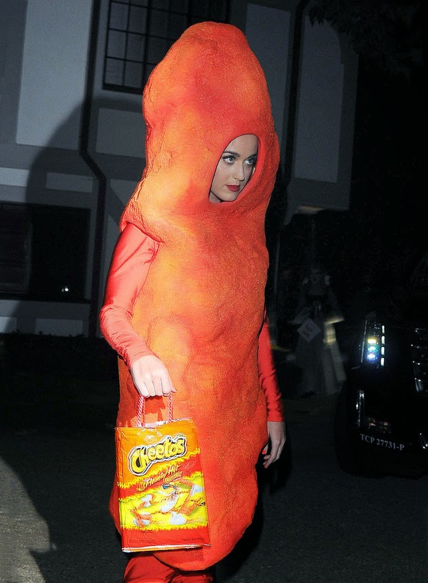 PHOTOS: Katy Perry Dressed As A Cheeto For Halloween