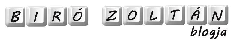 Biró Zoltán Blogja