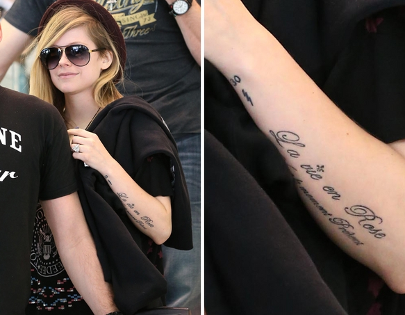 tattoos Avril lavigne