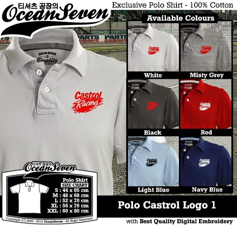 Kaos Polo Castrol Logo 1
