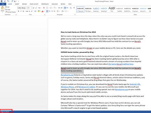 Copy và move văn bản MS Word bằng phím F2
