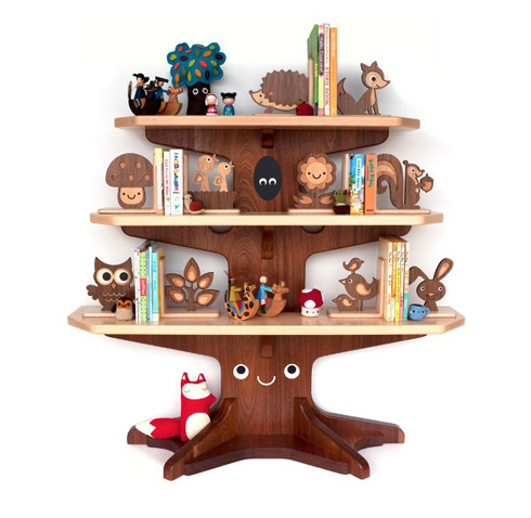 A n z u bunk beds treehouses and maps for Tree of life bookshelf
