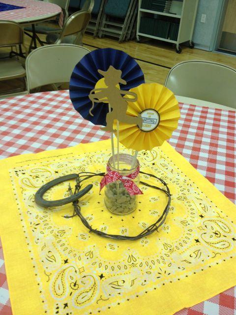 Larcie bird western blue gold cub scout banquet