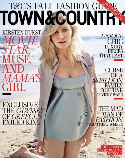 Actress, Singer, Model @ Kirsten Dunst for Town & Country September 2015