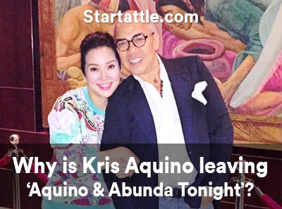 why kris aquino leaving aquino abunda tonight show health reasons attack stroke boy mmff