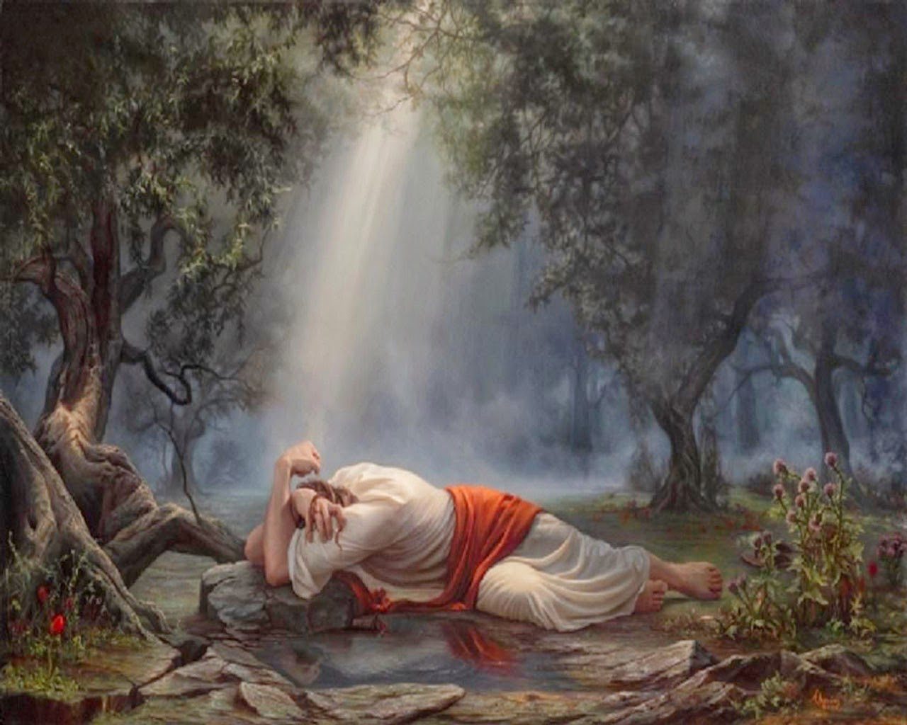 Word of truth lighthouse jesus 39 final week of work thursday to approx midnight Jesus praying in the garden of gethsemane