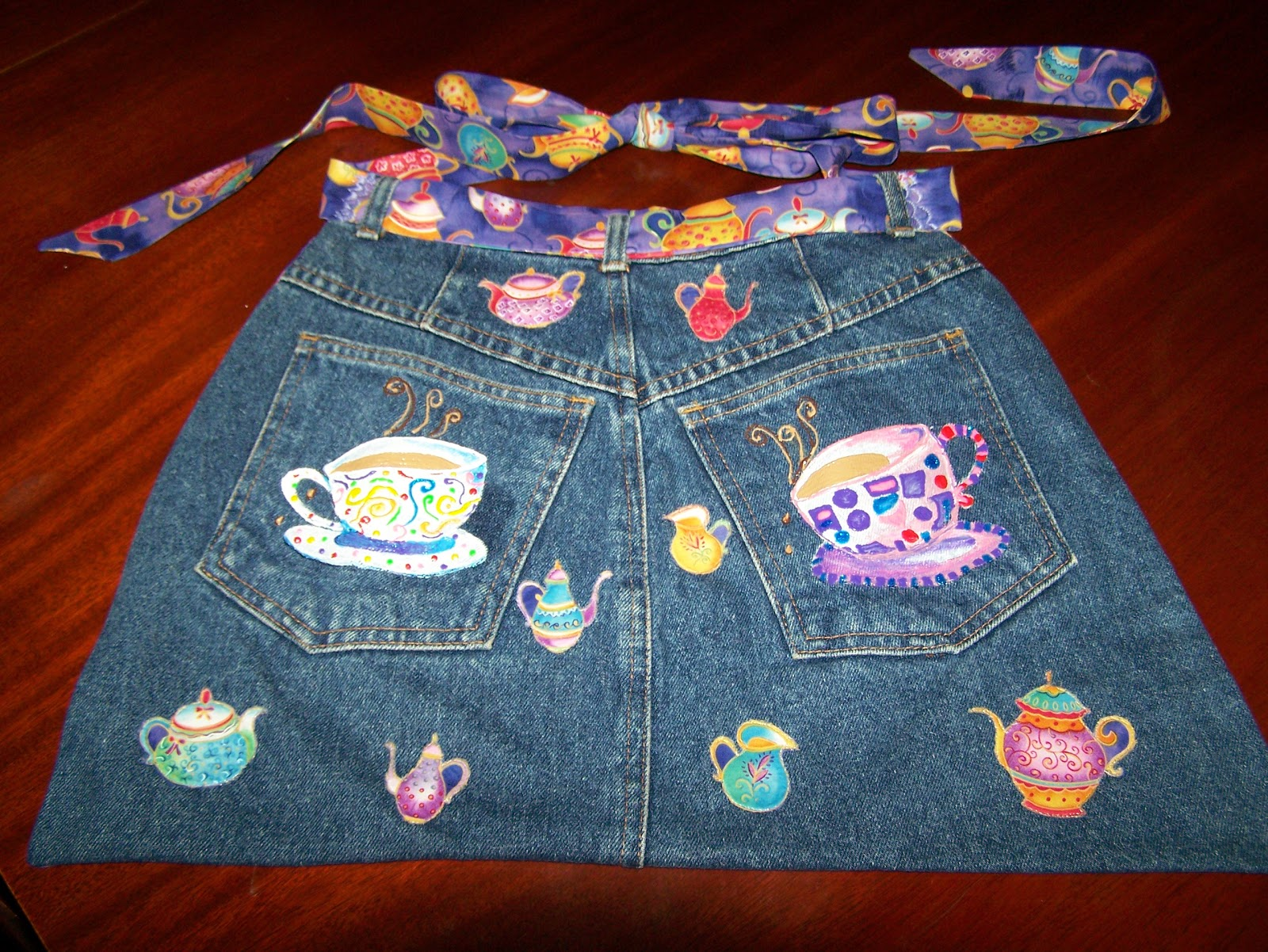 Damsel Quilts Amp Crafts Tea For Two Jean Apron