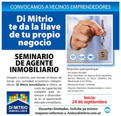 Seminario de Agente inmobiliario dictado por Di Mitrio Inmobiliaria