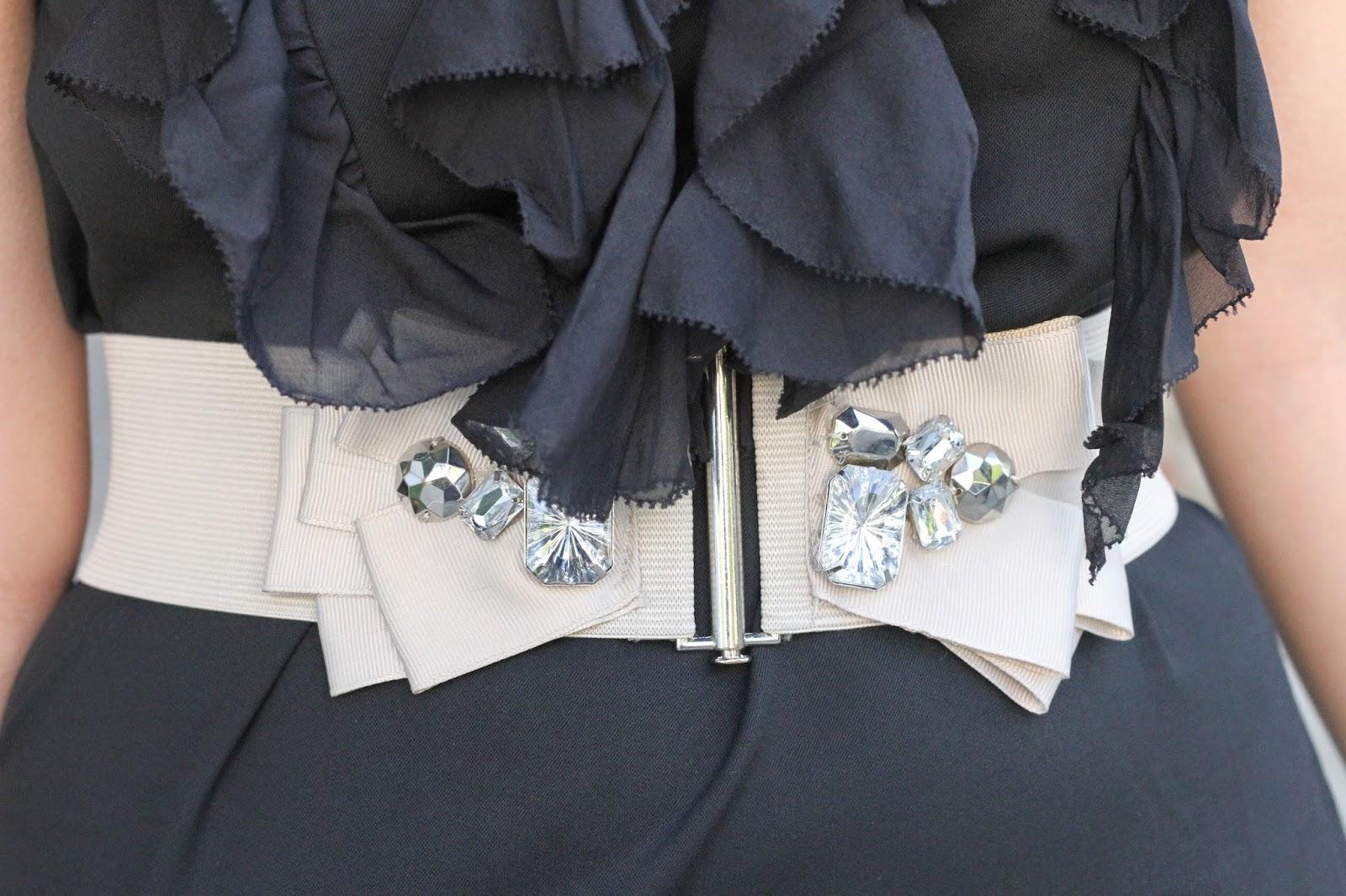 Ruffle Dress and Belt