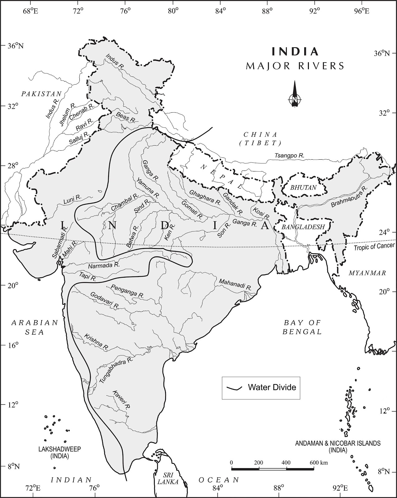 Upsc general studies and current affairs 2015 major rivers of india map major rivers of india map gumiabroncs Choice Image