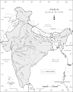 Major Rivers of India Map