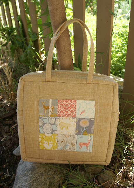 Linen &amp; Cotton Mosaic Bag by Fabric Mutt