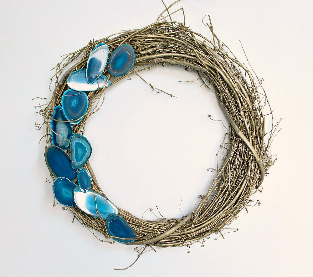 DIY Agate Slice Wreath