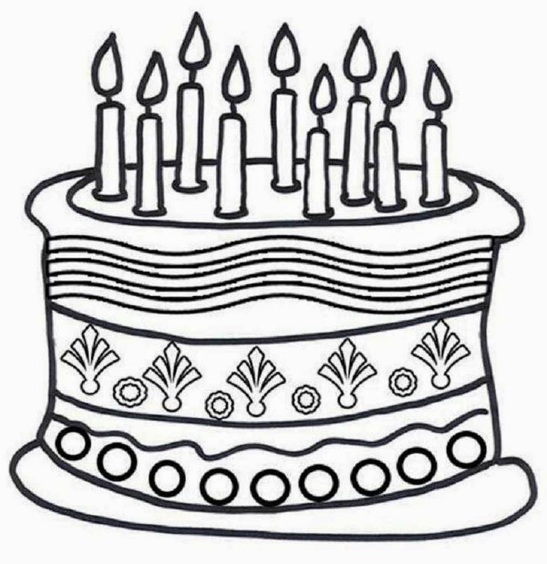 92 ideas Coloring Page Birthday Cake No Candles on kankanwzcom