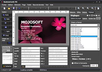 Mojosoft BusinessCards MX v4.93